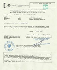 Surat Pengecualian Tidak Diimunisasi Vaksin Meningitis