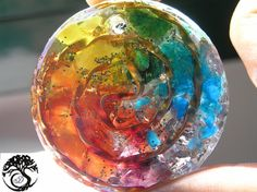 7 Chakras Orgone Pendant Crystal Healing Pendant by DeOrgonitas
