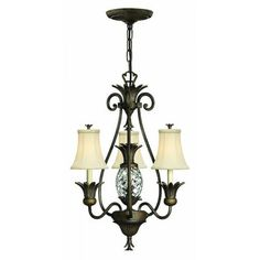 Elstead Lighting Hinkley Plantation 4 Light Chandelier Style Ceiling Fitting in Pearl Bronze Finish