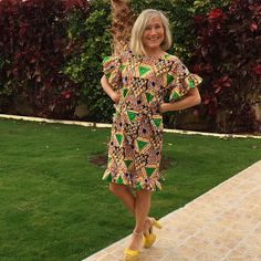 Ellen's Sewing Passion: African print Dress
