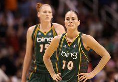 Sue Bird and Lauren Jackson Seattle Storm - 2 times WNBA Champs!