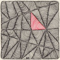 Laura Harms' weekly Zentangle challenge, week 34, featuring guest challenger Christina Vandervlist.