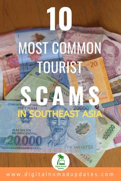 What are the 10 most common scams for tourists? Read about the scams and tips on how to avoid them, with practical guideance and advice, including how to recognize a scammer. Most Common, Digital Nomad, Southeast Asia, Travelling, Travel Tips, Advice, Face, Tips, Travel Advice