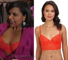 Mindy's butterfly lace bra (which we'll get a look at in tonight's episode of The Mindy Project!) comes in a multitude of colors, in case you want a rainbow of lingerie just like Dr.L.
