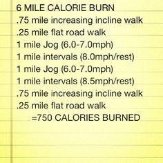 Burn 750 calories in 60 minutes