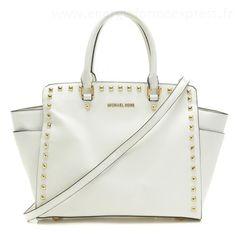 Michael Kors Grand Selma clouté Saffiano blanc CambridgeSac Jet Set Chain #bagsandpurses#jewellery|#jewellerydesign}