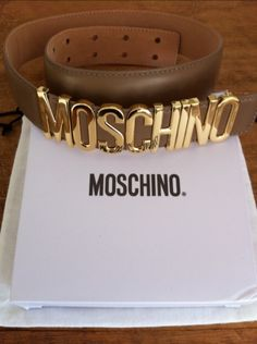 Moschino Belt.... could go so well with a maxi skirt.... and the color..... ☆☆☆☆☆ 5 stars!!