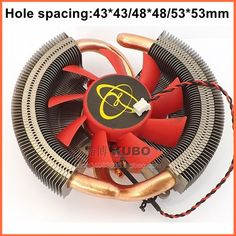 Supporting Multi-platform pure copper 43/48/53mm hole spacing A/ N Video graphics card fan cooler heat sink heat pipe #Affiliate