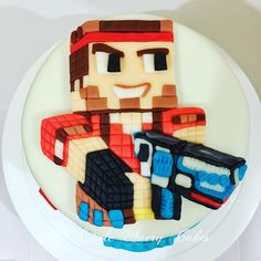 """Pixel Gun 3D"" theme cake #cakesph #pixelgun3d #LittleAveryCakes"