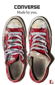 Find the classic selection of Chuck Taylor All Stars and latest styles of women's Converse shoes. Find you fit at Famous Footwear! Converse Rouge, White Converse, Converse Sneakers, Converse All Star, Custom Converse, Dress With Converse, Converse Classic, Hand Painted Shoes, Michael Kors Wallet