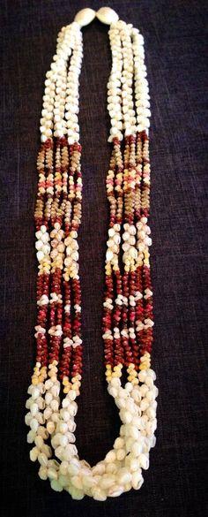 3-STRAND KIPONA LEI OF THE DAY - Available for purchase; please private message for pricing. Three strand, 32 inch lei Kipona, mixed Niihau shells. Made by Kele Kanahele.  |  Tags: Ni'ihau Shell Designs (10/26/2013)