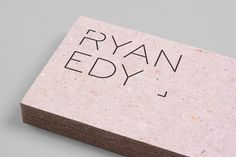 Ryan Edy by Founded , via Behance