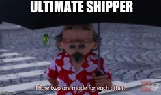 """Miraculous Ladybug Origins- This guy just litterally thought """"I ship this"""" and gave them miraculouses."""