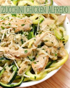 Zucchini Chicken Alfredo | Grab Some Zucchini And Make This Healthier Chicken Alfredo Dish