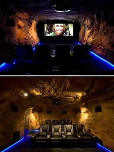 A man-cave in the spirit of the Bat-cave.