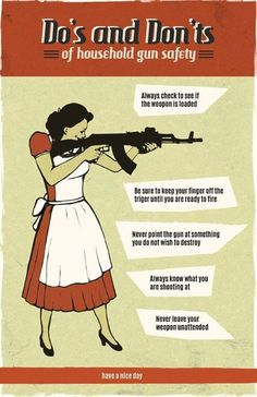 Do's and Don't s of household gun safety