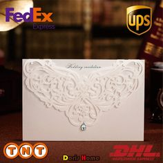 100pcs Printable White Classic Style Wedding Invitations Cards Custom With Rhinestone &  Laser Cut Flower,CW3129-in Event & Party Supplies from Home & Garden on Aliexpress.com | Alibaba Group