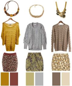 A few weeks ago I was at the Mall of America (hunting for a bridesmaid dress, but of course I strayed) and when I stopped by J.Crew I waspleasantlysurprised to find them touting mini-skirts and chunky sweaters for Fall. This is a look I can definitely appreciate. Today's Inspiration: Aris by Treska Brown Chunky Necklace($22.99), ModCloth Fan Letter Sweater ($57.99), Miss Selfridge Animal Print Knitted Skirt ($39.00). Beaulieu Gold Chunky Necklace ($59.00), Preen Line Bubble Sweater…