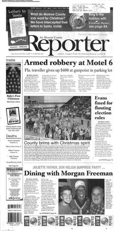 Monroe County Reporter (Forsyth, Georgia) newspaper archive available and searchable at http://mcr.stparchive.com/