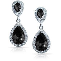 Bling Jewelry Bling The Black Drop (1.595 RUB) ❤ liked on Polyvore featuring jewelry, earrings, black, dangle-earrings, tear drop earrings, christmas earrings, dangle earrings, long earrings and christmas jewelry