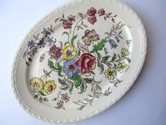Vintage Vernon Kiln May Flower Serving Platter by thechinagirl