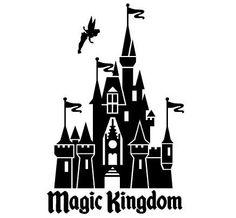 One 1 Disney World Magic Kingdom  Decal Sticker by DecalGlobal, $7.50