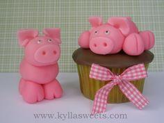 farm pig cupcake