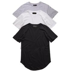New Mens Longline Curved Hem t-shirt Top Street Fashion Tee Tall Elongated Cloth | eBay