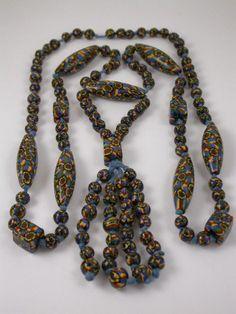 Venetian Millefiori Bead Necklace. 1920's.