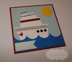 www.rosa-pink-glitzer.de: PunchArt Kreuzfahrtschiff mit Stampin' Up!