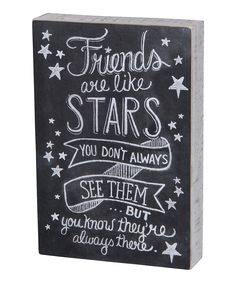 Primitives by Kathy Friends Are Like Stars Box Sign | zulily