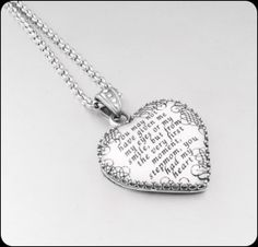 Wedding Gift For Dad And Stepmom : ... , Daughter In Law Necklace, Gift From Mother In Law, Aluminum Jewelry
