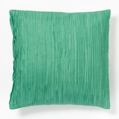 Pleated Silk Pillow Cover - Nile