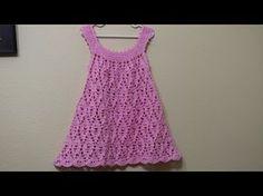 Batita para niña de 2 y 3 años con puntada de abanicos parte 2. - YouTube