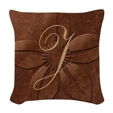 Chic Vintage Copper Woven Throw Pillow