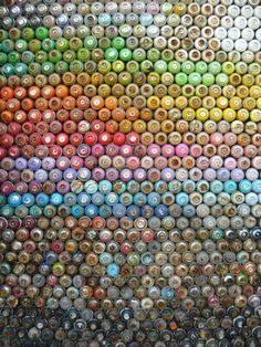 Nar Street Artist from Greece makes art with 773 empty cans of spray paint.