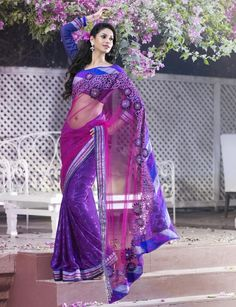 Ravishing-Purple-and-Blue-Net-and-Brasso-Latest-Designer-Party-Wear-Heavy -Work-Saree