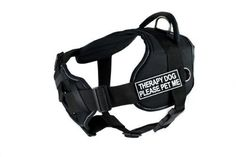 Dean and Tyler DT Fun 'Therapy Dog Please Pet Me' Dog Harness with Padded Chest Piece, Fits Girth Size 22-Inch to 27-Inch, Small, Black with Reflective Trim >>> Find out more about the great product at the image link. (This is an affiliate link and I receive a commission for the sales)