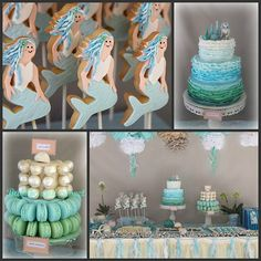 Mermaid Party collage by Bubble and Sweet, via Flickr