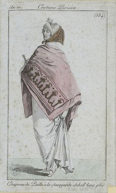 English fashion plates from and French fashion plates from Year 10 of the French Republican Calendar. All images come from the collection of the Bibliothèque des Arts Décoratifs. English Fashion, French Fashion, Retro Fashion, Vintage Fashion, 1800s Fashion, 19th Century Fashion, Regency Dress, Regency Era, Historical Costume