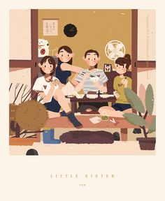 Ideas For Illustration Art Wallpaper Graphics Family Illustration, Japanese Illustration, People Illustration, Character Illustration, Graphic Design Illustration, Illustration Art, Graphic Wallpaper, Poster S, Illustrations And Posters
