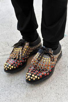 Prada men golf shoes
