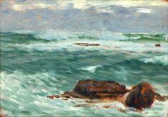 """ Moře u Syrakus "", Antonín Hudeček"