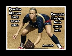 Jennie Finch Softball Motivation Wall Art, Daughter Wall Decor, Role Model Quote Poster, Practice Like You Never Won Free Ship by ArleyArt on Etsy Softball Memes, Softball Workouts, Softball Problems, Softball Drills, Softball Coach, Volleyball Quotes, Girls Softball, Fastpitch Softball, Softball Players
