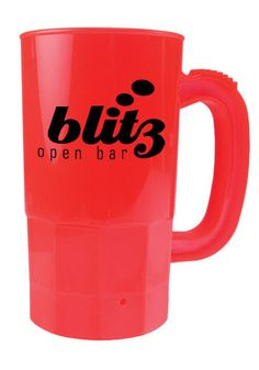 custom plastic beer steins at cups online get your logo on one of