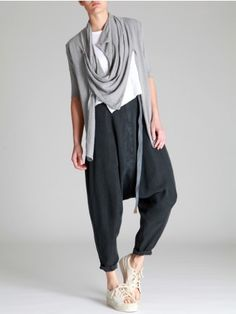 Low Crotch Trousers made of Tencel by LURDES BERGADA