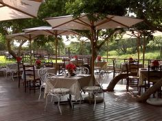 The deck at Al Fiume. Photo courtesy of the restaurant.