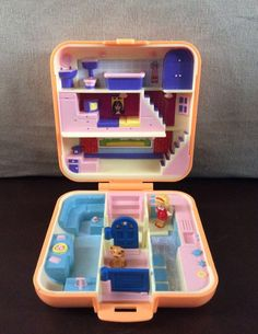 Vintage Bluebird Polly Pocket 1989 Polly's Town House **COMPLETE** #MattelBluebird #DollswithClothingAccessories