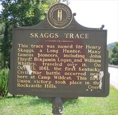 Skaggs Trace, Ft. Sequoyah Indian Village, Kentucky - Kentucky Historical Markers on Waymarking.com