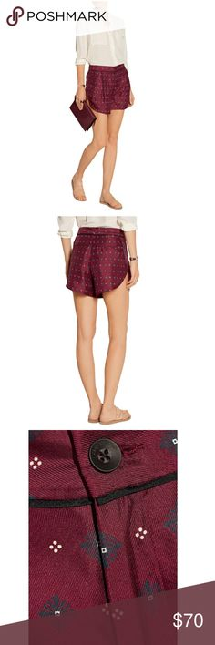 Rag & Bone Shorts Rag & bone's loose-fit 'Gabrielle' shorts are made from lustrous silk twill and finished with curved hems. The silhouette gives the flattering illusion of longer legs. Style yours with a clean white blouse or the matching top. rag & bone Shorts